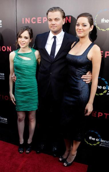 Ellen Page, Leonardo DiCaprio, Marion Cotillard. Photo: GettyImages.com