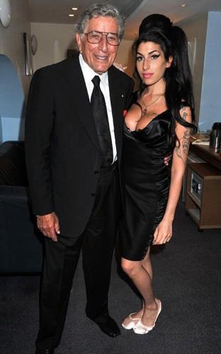 Tony Bennett & Amy Winehouse.  Photo:  Mark Allan