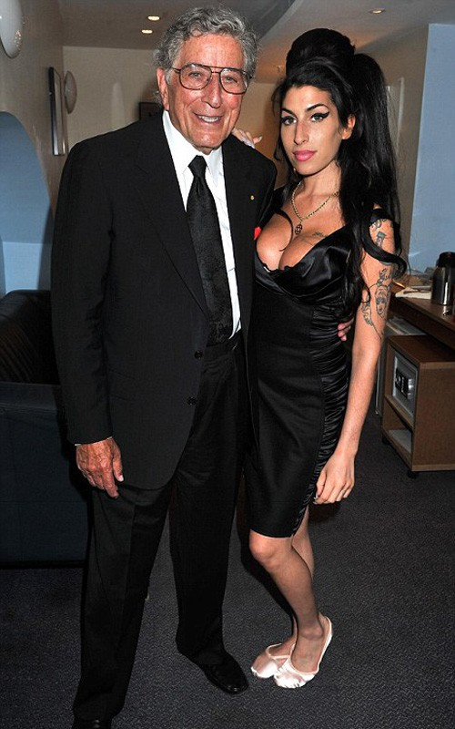 Tony Bennett & Amy Winehouse. Photo: Mark Allan