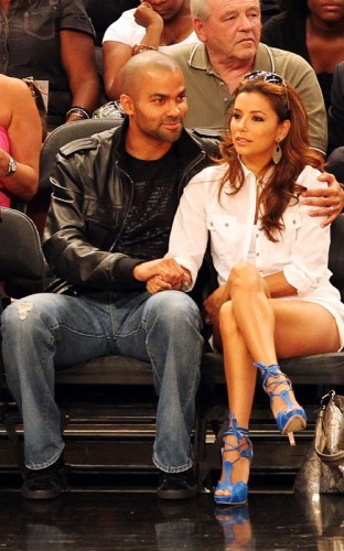 Eva Longoria & Tony Parker. Photo: FamePictures.com
