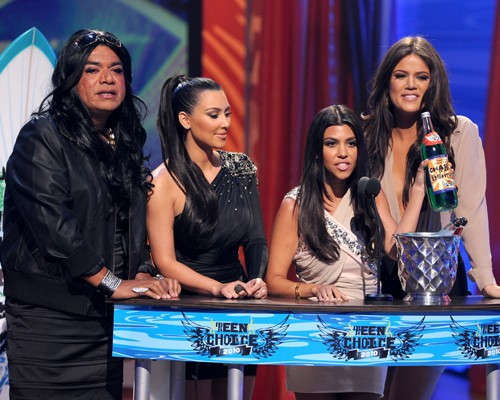 Kim, Kourtney, & Khloe & K.Lopez Kardashian. GettyImages.com