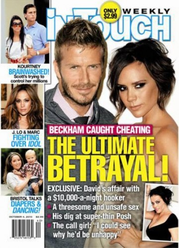 David Beckham Intouch Magazine