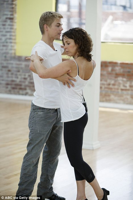 Jennifer Grey & Derek Hough Rehersal. Photo: GettyImages.com Courtesy ABC