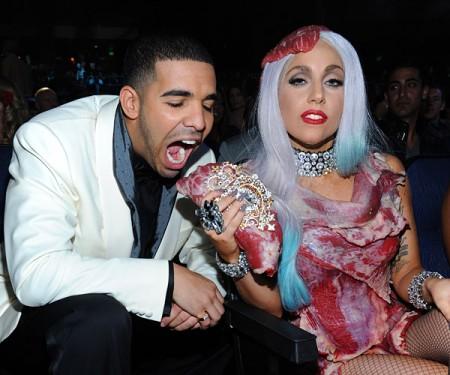 Drake & Lady Gaga. Photo: Twitpic.com & Gagadaily.com