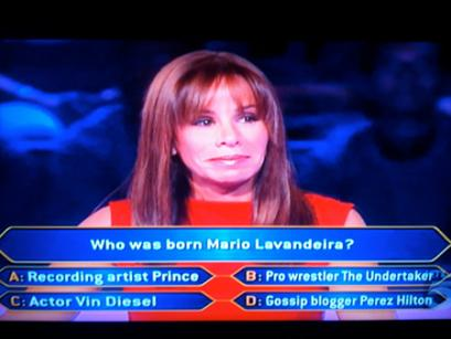 Melissa Rivers. Photo: Who Wants To Be A Millionaire