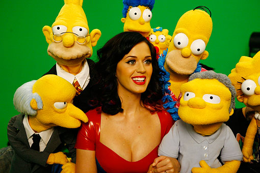 Katy Perry & The Simpson Cast. Photo: FOX