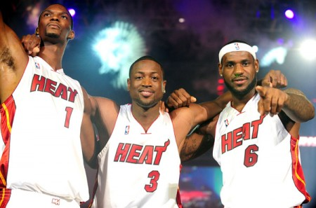 Chris Bosh, Dwayne Wade, &amp; LeBron James. Photo: NBA.com