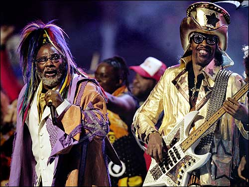 George Clinton & Bootsy Collins. File Photo