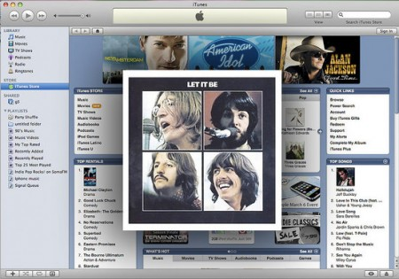 The Beatles On I-Tunes. Photo: MashedReport.com