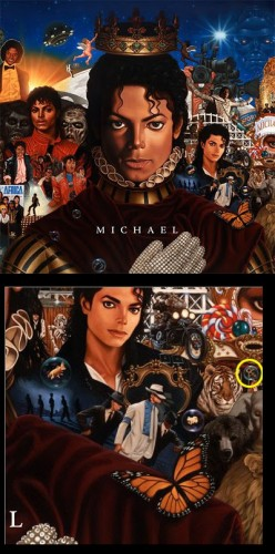 The new cover for MICHAEL. Note the Prince symbol in the lower right by the tiger.