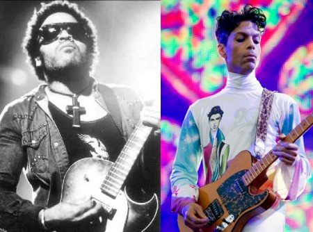 Lenny Kravitz & Prince.