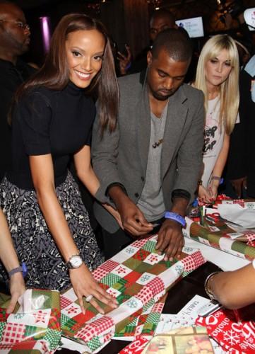 Kanye West & Selita Banks.  Photo: GettyImages.com