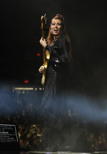 NPG bass player Ida Nielsen at Madison Square Garden, Dec. 29 | Copyright NPG Records 2010