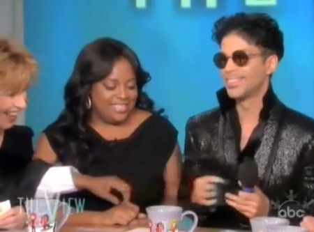 Prince appeared on Thursday's episode of the View. Click to watch the video.