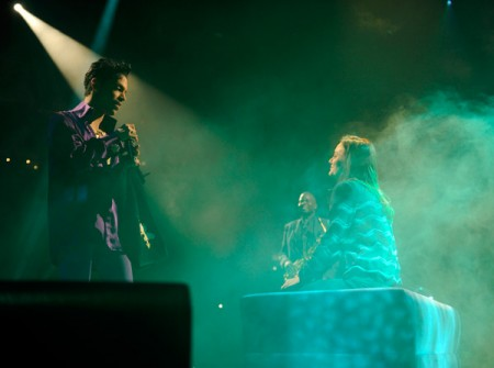 Prince serenades Leighton Meister at his Jan. 18 show in NYC | Copyright NPG Records 2011