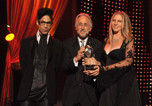 Prince, Neil Portnow, & Barbra Streisand. Photo: GettyImages.com