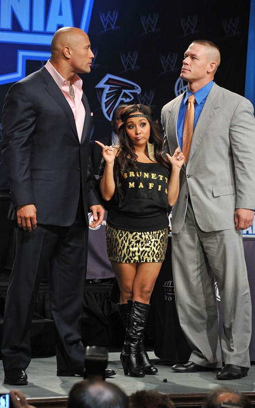 The Rock, Snooki, & John Cena.  Photo:  GettyImages.com
