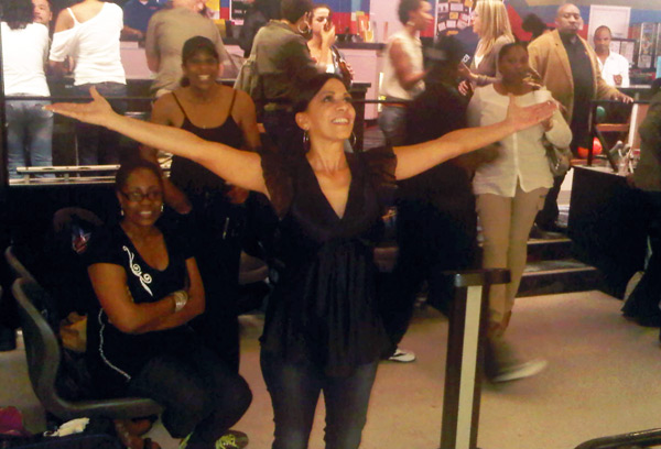 Sheila E. asks for divine intervention with her bowling score
