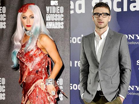 Lady Gaga & Justin Timberlake. Photo: NYDailyNews.com