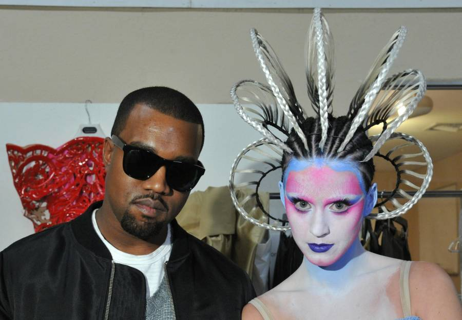 Kanye West & Katy Perry From E.T. Video Shoot Promo Photo