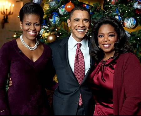 Michelle Obama, President Barack Obama, & Oprah. Photo: NYdailynews.com