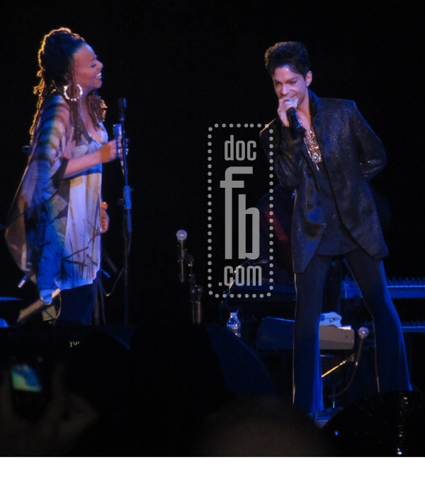 Prince & Cassandra Wilson. Photo Taken By: Drfunkenberry Copyright NPG Records 2011