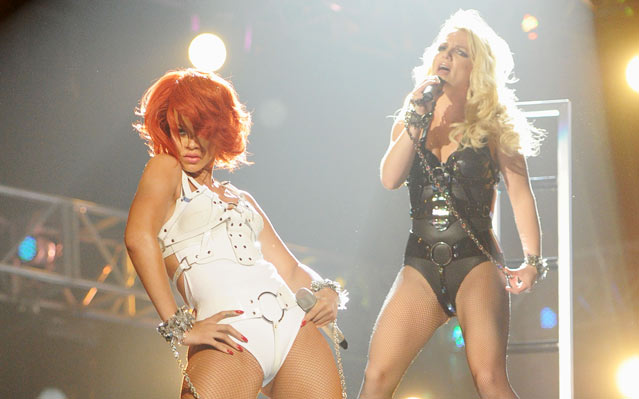 Rihanna & Britney Spears. Photo: Kevin Mazur/WireImage