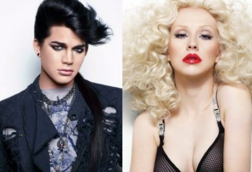 Adam Lambert &amp; Christina Aguilera. Photo: Idolator.com