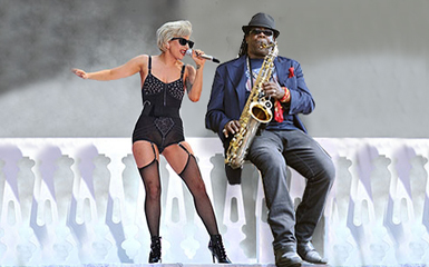 Clarence Clemons &amp; Lady Gaga. File Photo