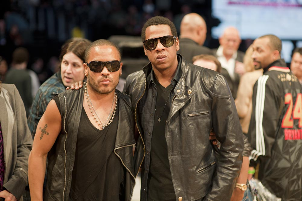 Lenny Kravitz & Jay Z. Photo: Mathieu Bitton
