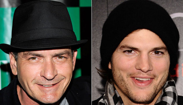 Charlie Sheen &amp; Ashton Kutcher. Photo: Letitflow.com