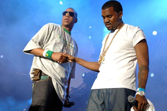 Jay Z & Kanye West.  File Photo