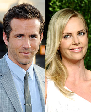 Ryan Reynolds &amp; Charlize Theron Photo: UsMagazine.com