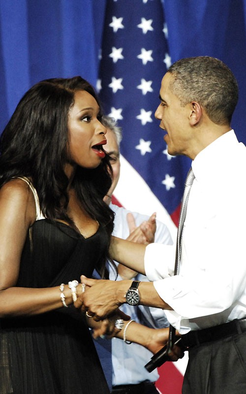 Jennifer Hudson & President Barack Obama. Photo: FamePictures.com