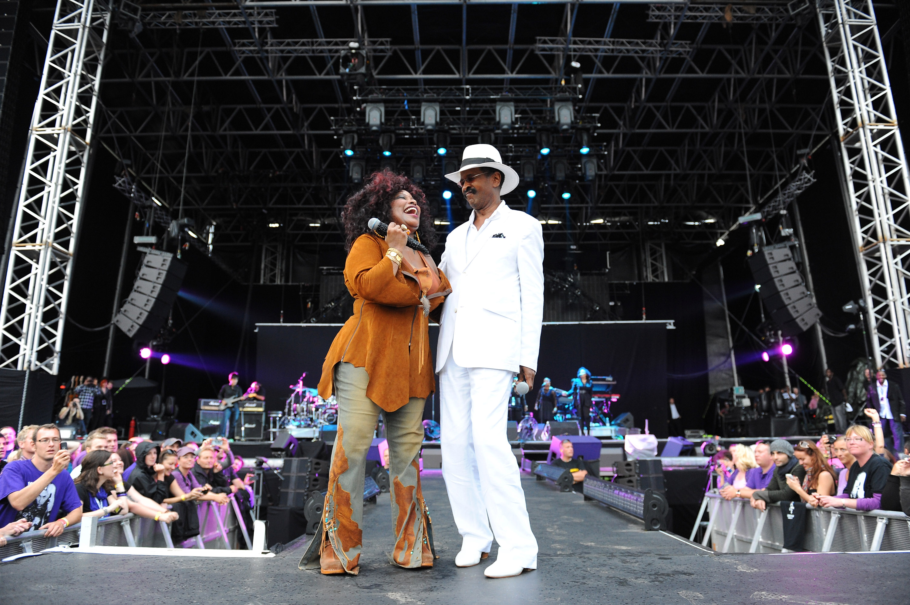 Chaka Khan & Larry Graham Performing At NPG Music & Arts Festival. NPG Records 2011