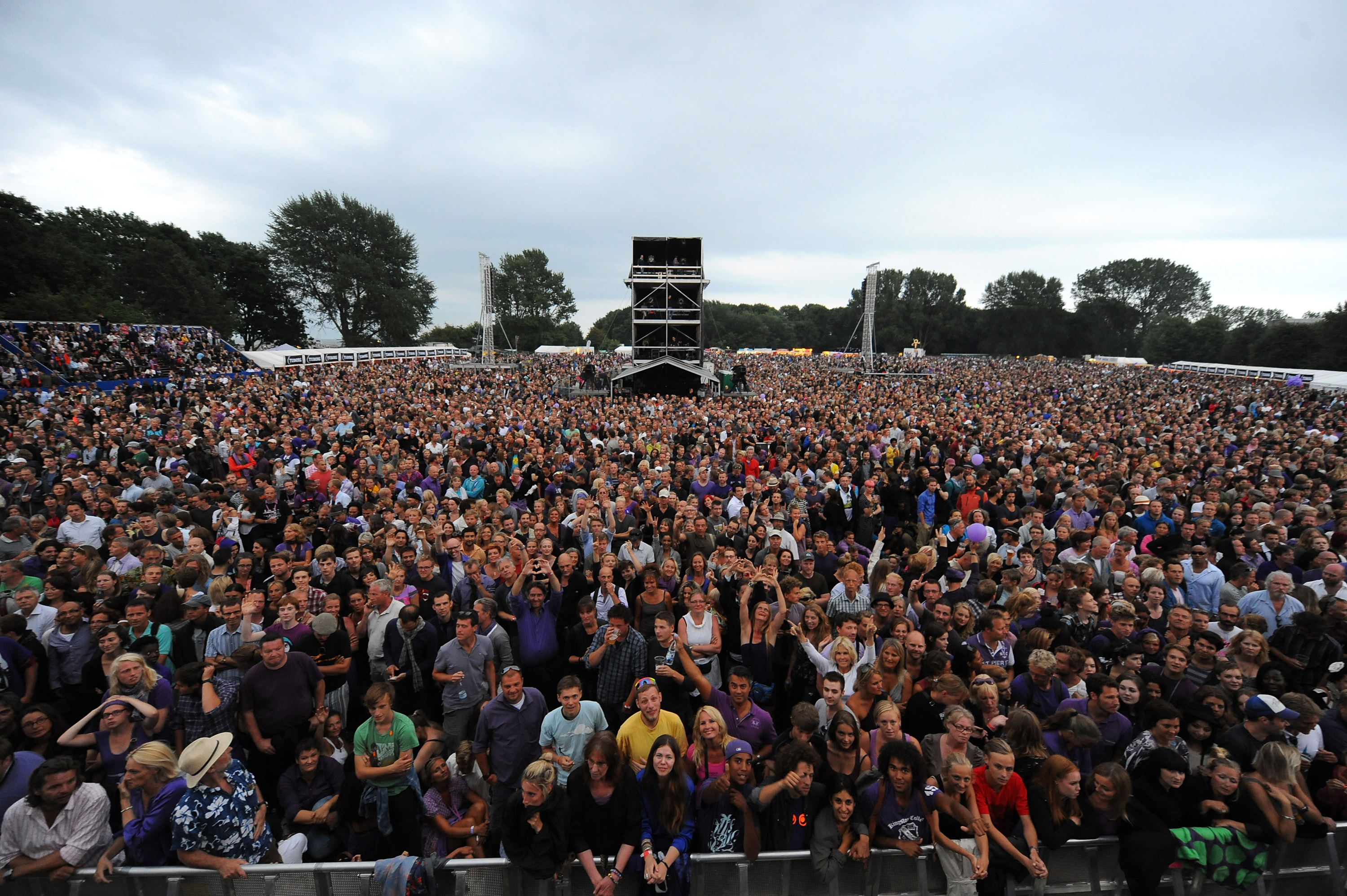 Crowd For The NPG Music And Arts Festival. NPG Records 2011