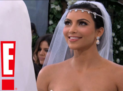 Kim Kardashain Wedding Photo E! Networks