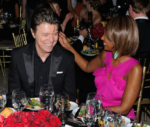 David Bowie &amp; Iman April 2011 Photo: Gettyimages.com