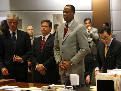 Conrad Murray & His Defense Team. File Photo: AP