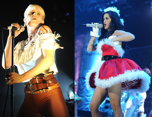 Robyn &amp; Katy Perry.  Photo:  Getty Images