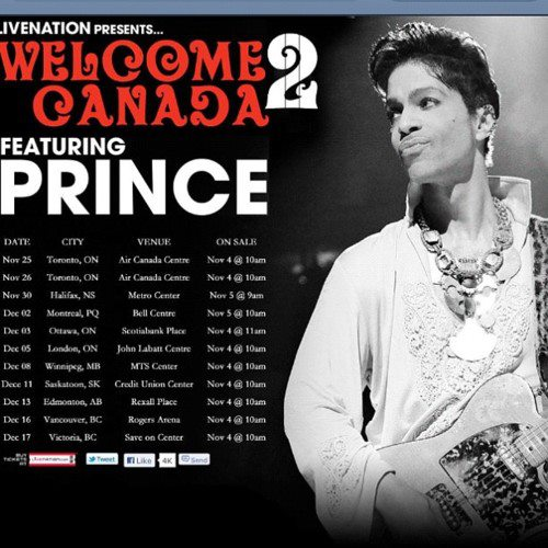 Welcome 2 Canada. LiveNation.com