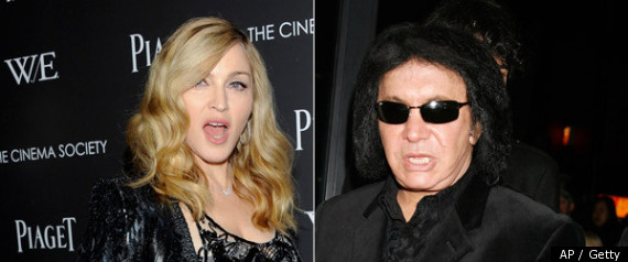 Madonna &amp; Gene Simmons.