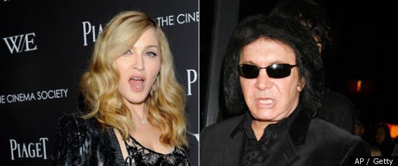 Madonna & Gene Simmons.