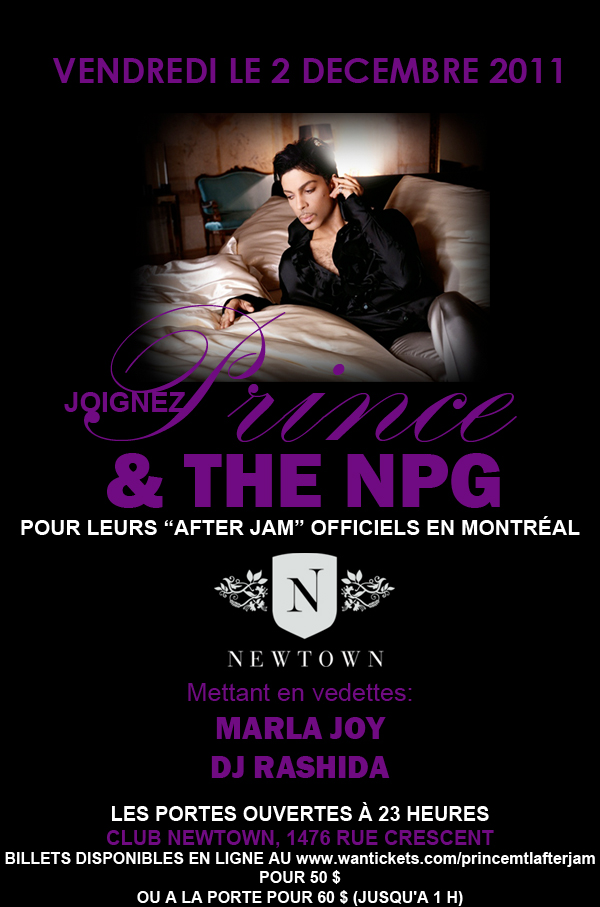 Prince Montreal Aftershow In French