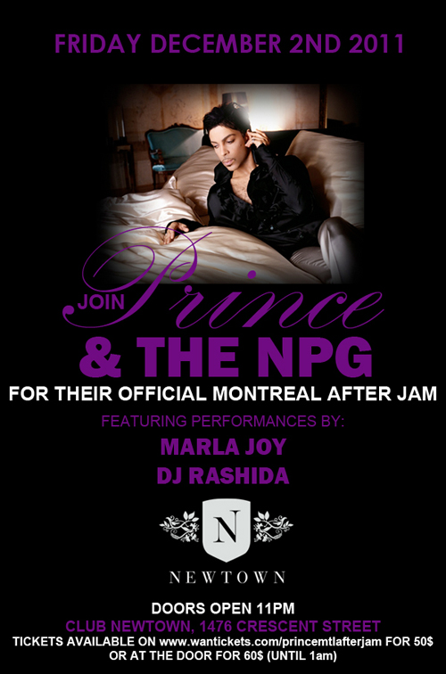 Prince Montreal After Jam Flyer