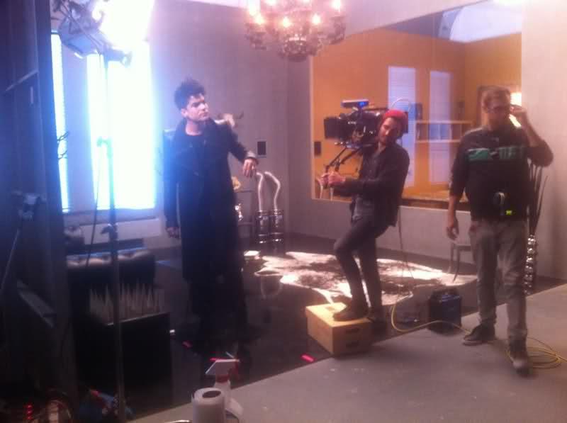 Adam Lambert. Better Than I Know Myself Video Shoot