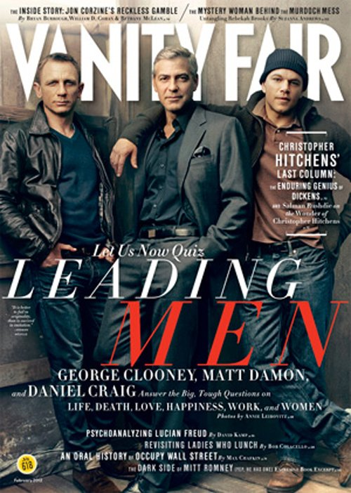 Daniel Craig, Goerge Clooney, & Matt Damon. Photo: Vanity Fair