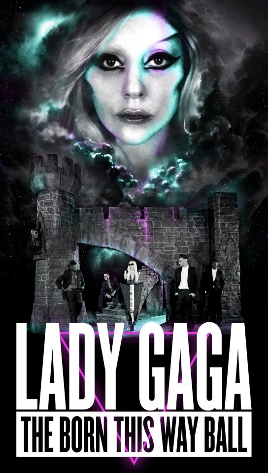 Lady Gaga Born This Way Tour Poster