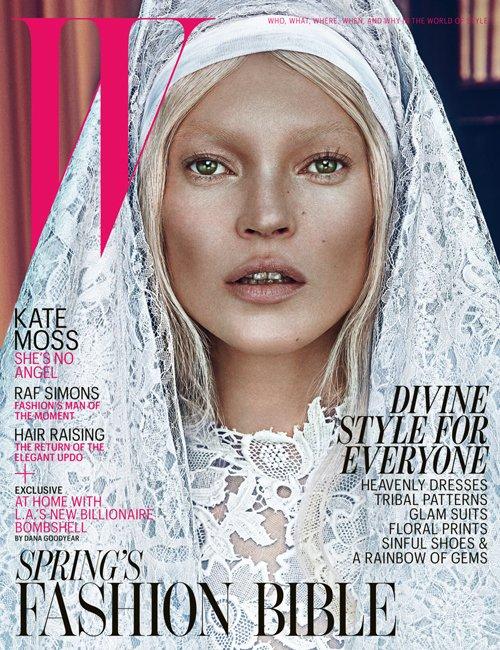Kate Moss Photo: Steven Klein for W