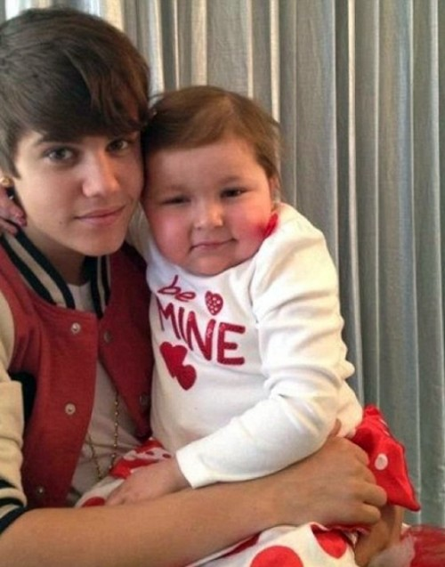 Avalanna Routh & Justin Bieber.